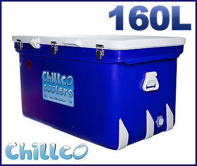 160L Chillco Ice Box Cooler Chilly Bin Ice Chest Superior Ice Retention-Rrp $580