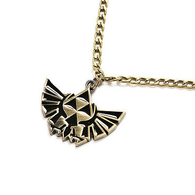 Cosplay for The Legend of Zelda Link Symbol Logo Bronze Metal Pendant Necklace T