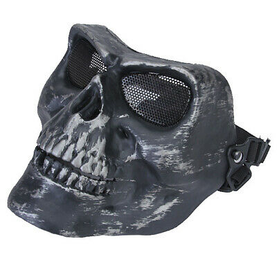 Tactical Airsoft Paintball Skeleton Skull Full Face Protector Mask Cosplay
