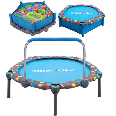 Smartrike 3in1 100cm Kids Trampoline/Ball Pit/Safety Bar Indoor/Outdoor Jump/Toy