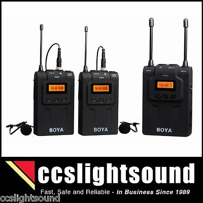 Boya Wm8 Uhf Dual Channel Wireless Lavalier System For Camera