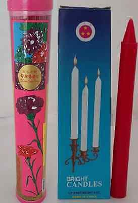 Chang Luen Hing Joss Stick Incense 250g +Three Stars Bright Candle Red Religious