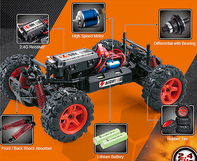 Parts - 1:24 Subotech BG1510 RC High Speed Car 4WD Off road Racer 2.4GHz 40km/h