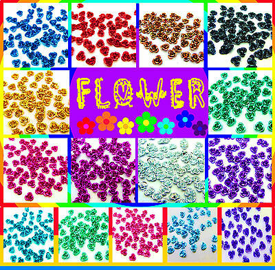 FREE SHIPPING 8MM Aluminium decorative embellishment flowers beads Appliques