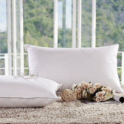 White Goose Down Alternative Pillow King Queen Size Quality Bedding Standard