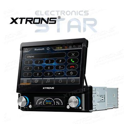 "XTRONS Single One DIN 7"" HD Car CD DVD Player GPS SAT NAV Bluetooth Stereo Radio"