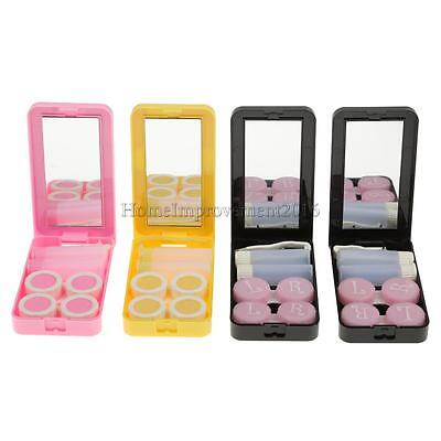 Cat Girl Pocket Size Contact Lens Holder ContainerTravel Portable Kit Holder