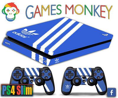Skin PS4 SLIM - ADIDAS limited edition DECAL COVER Playstation 4 GAMESMONKEY