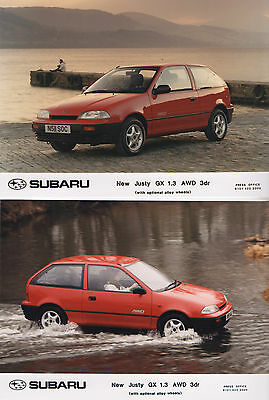 Subaru Justy GX 1.3 AWD Press Release/Photographs 1996 - Technical Specification