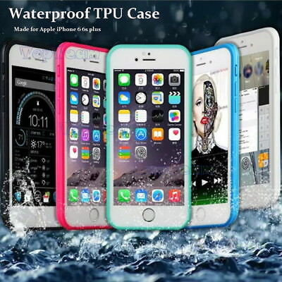 Shockproof Hybrid Rubber Waterproof TPU Phone Case Cover For iPhone 6S 7 8 Plus