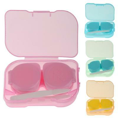 Clear Mini Pocket Size Contact Lens Travel Kit Case Storage Vision Container