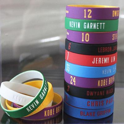 2Pcs Silicone Wristband Basketball Star Bracelet Rubber Hand Ring Band Sports