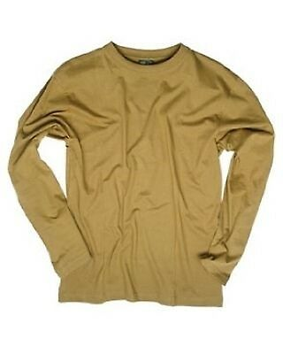 COTTON LANGARM Long Sleeve SHIRT COYOTE TAN L / Large