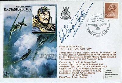 RAF Battle of Britain ace STANFORD -TUCK signed his 'own' cover!