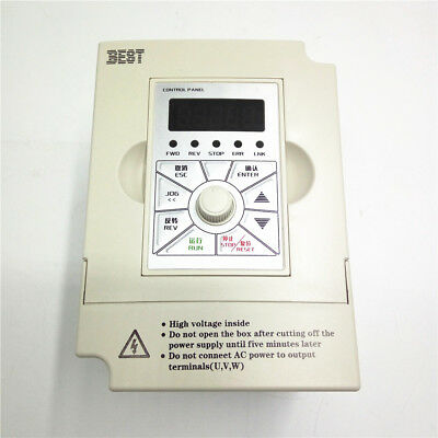 1.5KW 220V 2HP VFD Inverter Driver 1phase 7A 1000Hz Variable Frequency Drives