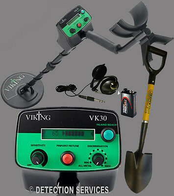 Viking VK30 metal detector Motion and Non-motion land shoreline of war coin