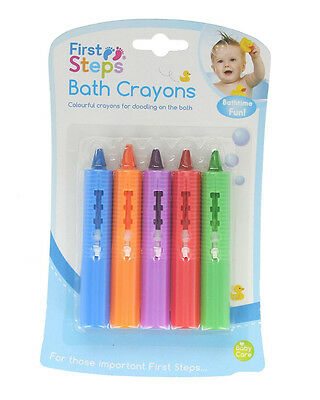 New mega non toxic bath crayons, kids washable bath tub 10 colours wash off fun!