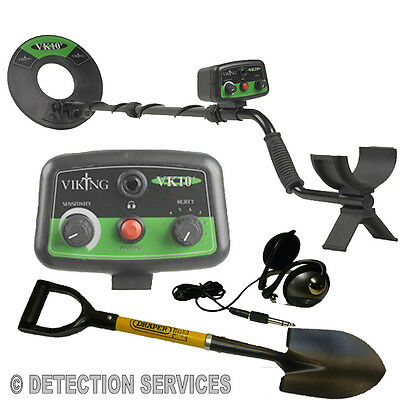 "Viking VK10+ Metal detector novelty with coil from 10"" concentric powerful"