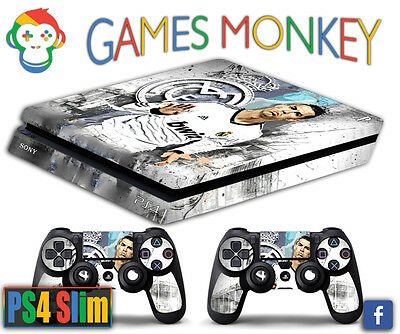 Skin PS4 SLIM - CRISTIANO RONALDO REAL MADRID limited edition DECAL COVER