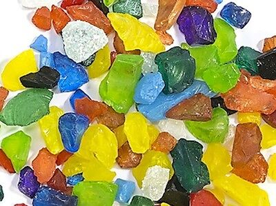 Mixed Tumbled Glass Pieces for Mosaic Art & Craft Tiles & Supplies