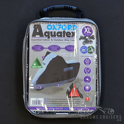 Oxford Aquatex CoverOut//Indoor Motorcycle Cover XL Size  CV206 Xlarge