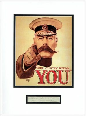 Lord Kitchener Autograph Signed Display AFTAL  UACC RD
