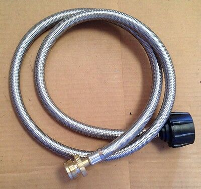 4 - FT Adapter Hose S.S. 20 LB to 1 LB Cylinders RV, Campstove, Lanterns, Grills