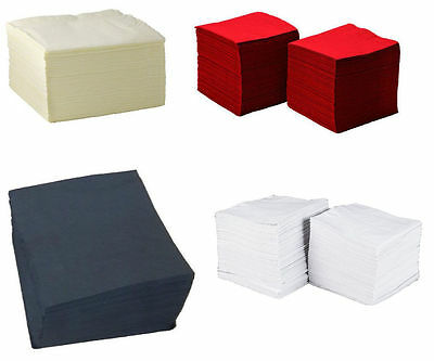 PAPER NAPKINS TABLEWARE PARTY SUPPLIES COCKTAIL SOFT SERVIETTES 24cm x 24cm