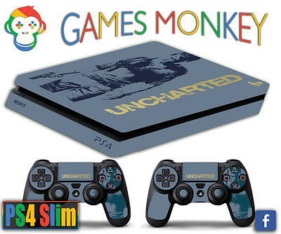 Skin PS4 SLIM - UNCHARTED BUNDLE limited edition DECAL COVER GAMESMONKEY