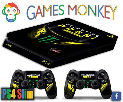 Skin PS4 SLIM - VALENTINO ROSSI THE GAME 46 limited edition DECAL COVER