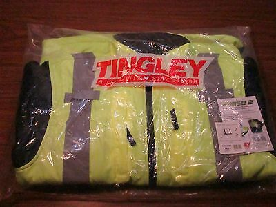 Tingley J73022 Phase 2 Hi-Vis Fleece Jacket, Zipper, Fluorescent MEDIUM NEW