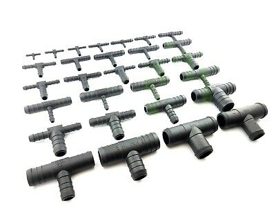 Tubing Fittings Pipe Connector Plastic Barbed Hose Joiner T-PIECE & REDUCING