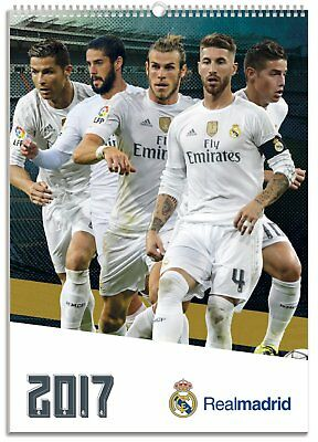 Real Madrid Official 2017 Calendar NEW