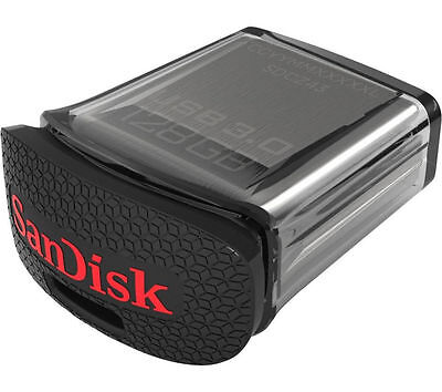 SANDISK Ultra Fit USB 3.0 Memory Stick 128GB Password Protected Black