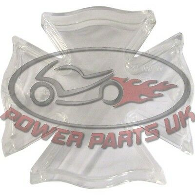 Taillight Lens Fire Maltese Cross With Clear