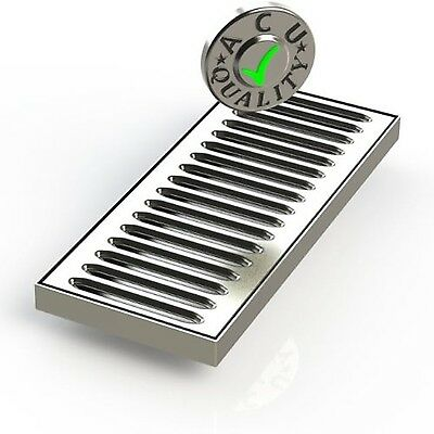 ACU Precision Sheet Metal 0100-08 Surface Mount Drip Tray No Drain Stainless ...