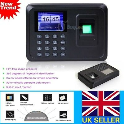 Attendance Check Fingerprint+ Password Time Recorder Clocking In Clock Machine