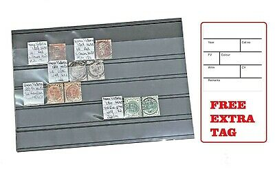 10 Sheets Stamp Stock Card (1-5 Strips) Storage Display 15 x 21cm w/ Foil Cover