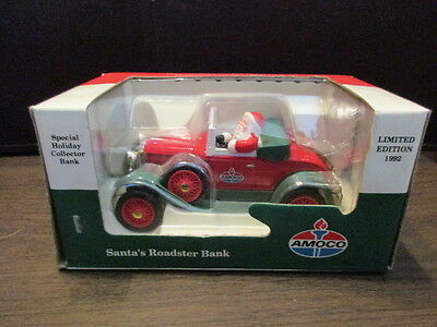 AMOCO Santa's Roadster Bank - Die Cast - Limited Edition - 1992 - Christmas