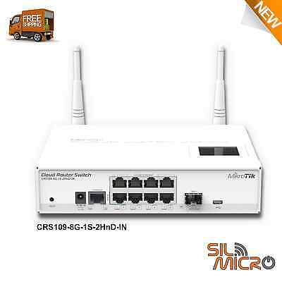 Mikrotik CRS109-8G-1S-2HnD-IN Cloud Router Switch 1xSFP 8xLAN