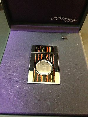 St Dupont Paris Palladium Plated And Macassar Lacquer Cigar Cutter New In Box