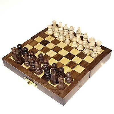Wooden Chess Set Folding - Game - Board Game - Classic - Gift Idea - Christmas -