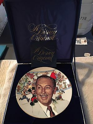 Disney 85Th Anniv. Of The Birth Of Walter Disney Collector Plate In Box