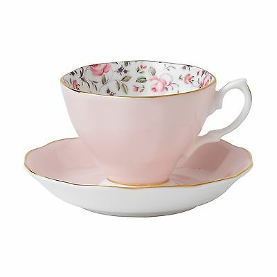 Rose Confetti by Royal Albert Vintage Tea Cup/Saucer Boxed Set Rose