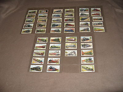 Cigarette Card Set GALLAHER TRAINS OF THE WORLD 1937