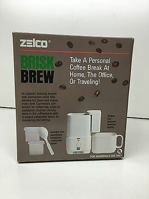 New Zelco Brisk Brew Portable Auto Drip Coffee Maker Model 15001 Compact 8oz