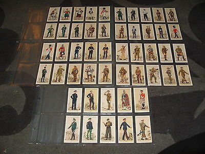 Cigarette Card Set PLAYERS UNIFORMS OF THE TERRITORIAL ARMY 1939