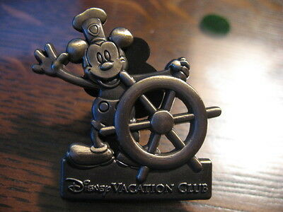 Rare Mickey Mouse Steamboat Willie Disney Vacation Club Cruise Lapel Pin