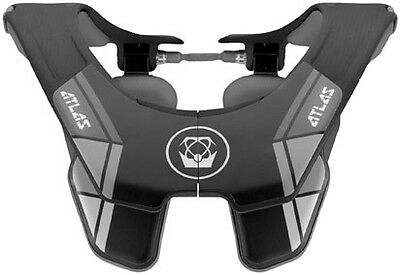 Atlas Carbon Grey Motocross Offroad Snowmobile Motorcycle Riding Neck Brace