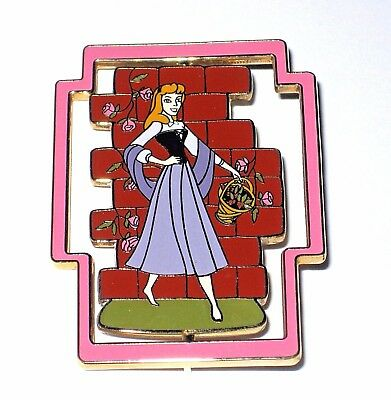 LE 100 Disney Auctions Pin✿Sleeping Beauty Aurora Briar Rose Morphing Spinner LE
